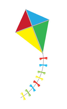 kite isolated on white background Vector
