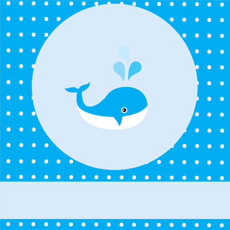 vector baby shower with a whale Vector