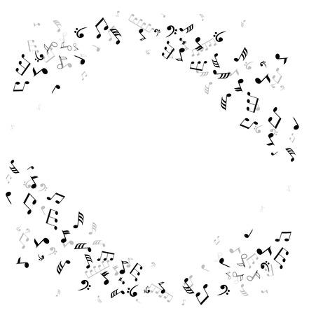 computer clubs: vector musical notes framed background Illustration