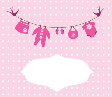 baby birth: vector baby clothes with Christmas elements