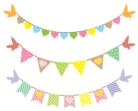 bunting flags: vector backgrond with bunting