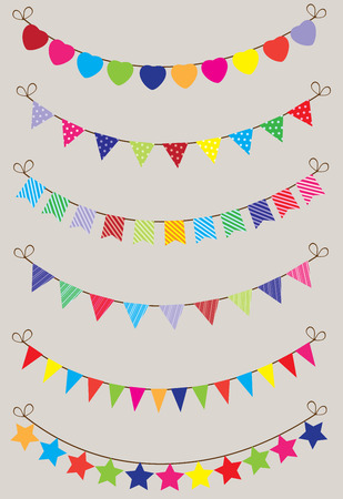vector illustration of a colorful bunting background