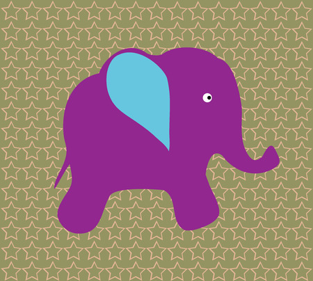 baby elephant: vector cute baby elephant