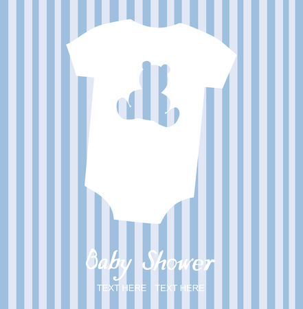 vector baby clothes shower card