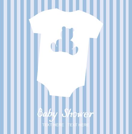 vecteur vêtements de bébé carte de douche