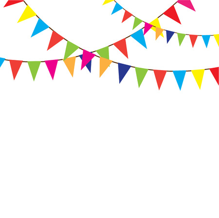 bunting flags: vector bunting background with space for text Illustration