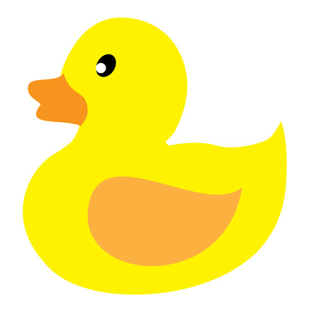 vector illustration of a toy rubber duck