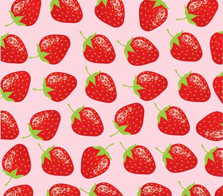 vector illustration of seamless strawberry background