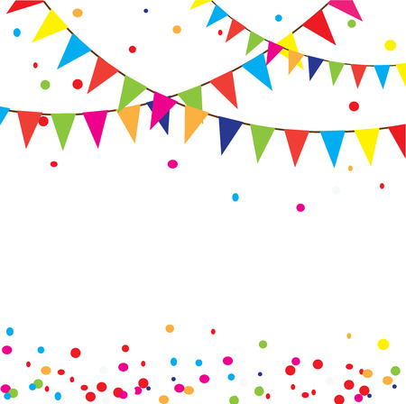 vector illustration of celebration background with bunting  イラスト・ベクター素材