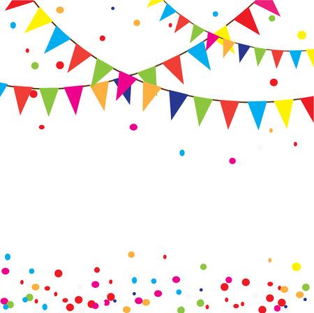 vector illustration of celebration background with bunting Illustration