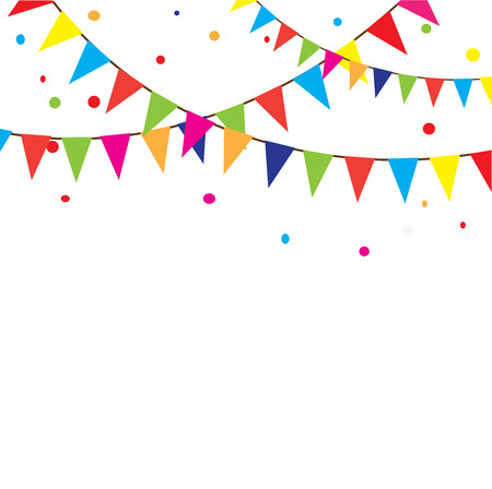 vector illustration of bunting background Stock Illustratie