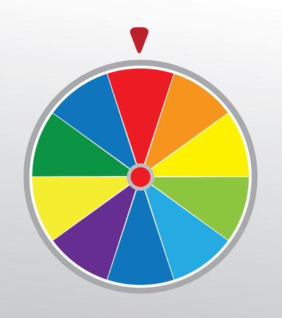 rueda de la fortuna: ilustración de una rueda de la fortuna