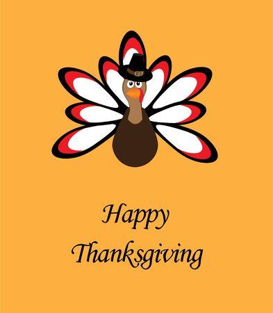 thanksgiving card: illustration of a thanksgiving turkey