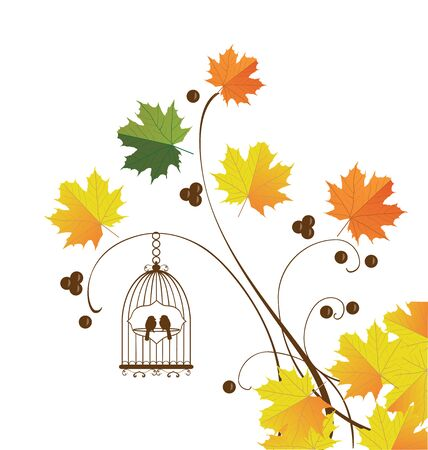 fall background: vector illustration of thanksgiving fall background