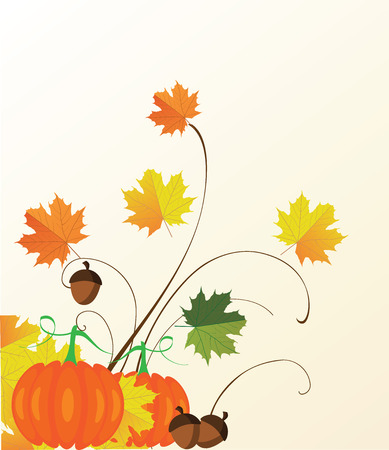 fall: vector illustration of thanksgiving fall background