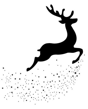 vector illustration of reindeer Christmas background