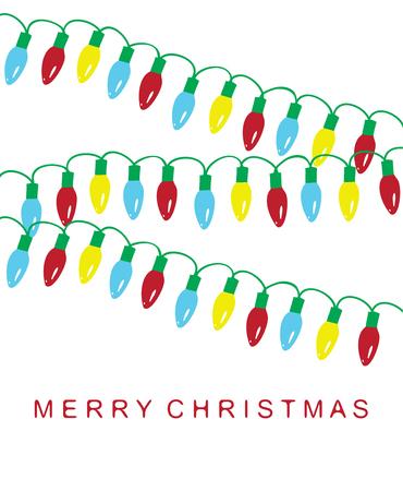 Światła: Ilustracja wektora Kartka świąteczna z oświetleniem