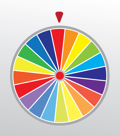 luck wheel: vector illustration of a wheel of fortune