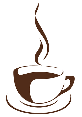 exhalation: vector illustration of a cup of coffee Illustration