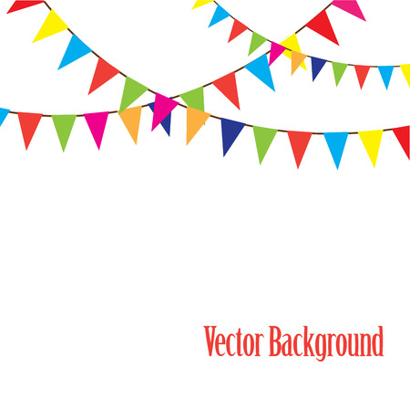 vector illustration of a bunting background Stock Illustratie