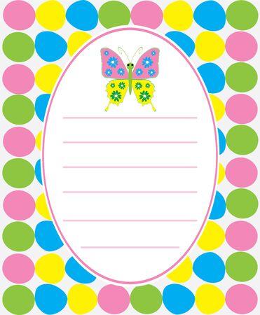 赤ちゃんシャワーまたは招待状カード蝶とのベクトル イラスト