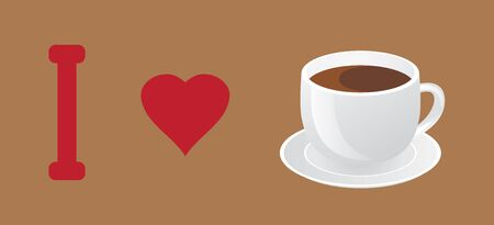 quencher: vector illustration of a cup of coffee Illustration