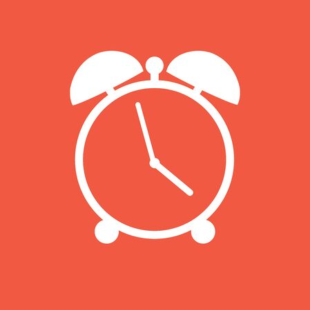 vector illustration of a flat clock icon