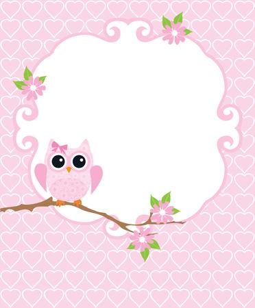 bebes niñas: ilustración vectorial de bienvenida al bebé o tarjeta de cumpleaños