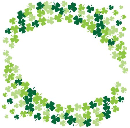 shamrock: vector illustration of shamrock frame background