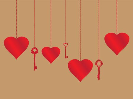 suck: vector illustration of heart background for valentine day Illustration