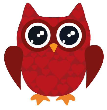 owl vector: vector illustration of owl for valentine day