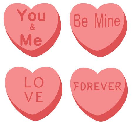 vector illustration of heart background for valentine day Illustration