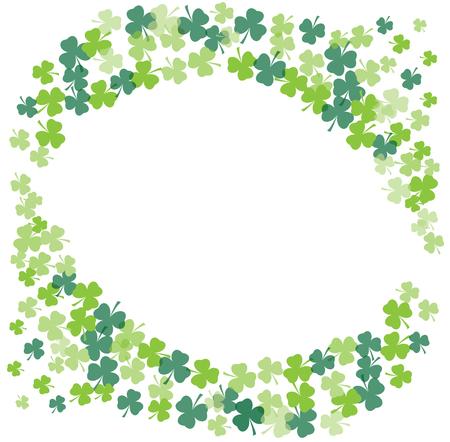 irish culture: illustration of shamrock frame background st. Patrick day Illustration