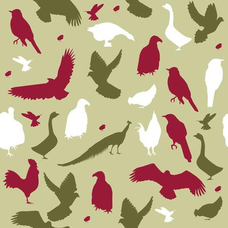 Vektor-Illustration nahtlose Hintergrund mit Vögeln