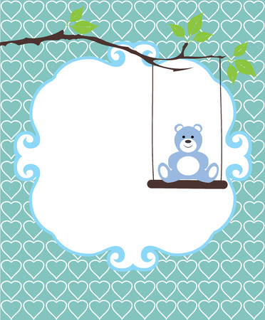 vector illustration of a baby shower or invitation card  イラスト・ベクター素材