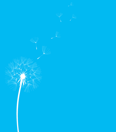 posterity: illustration of a dandelion flower silhouette