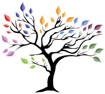 illustration of an abstract tree with leaves