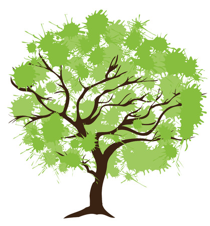 genealogical: illustration of an abstract tree isolated on white background