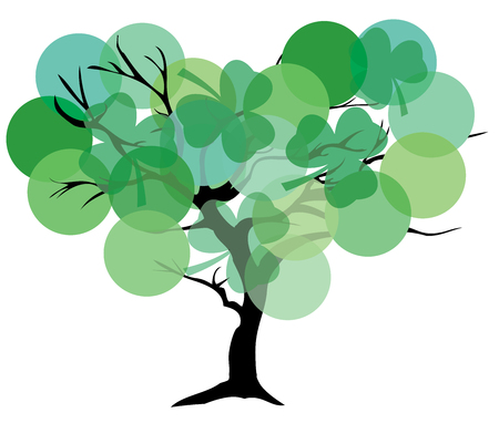 genealogical: illustration of an abstract tree background