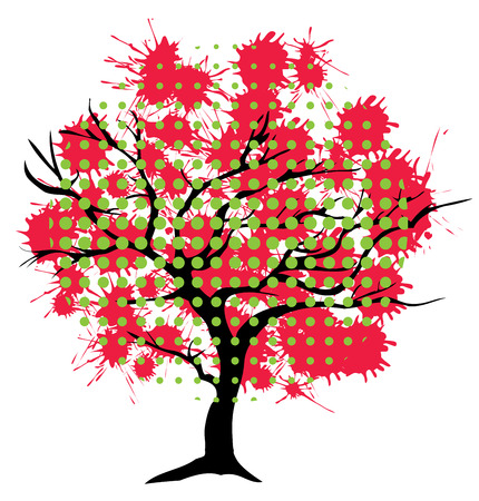 illustration of an abstract tree background