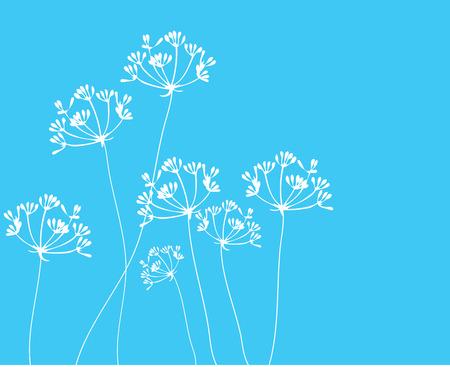 illustration of fennel flower background