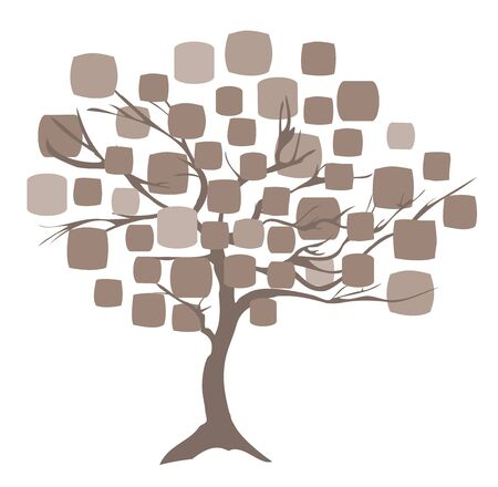 allegory painting: illustration of an abstract tree background