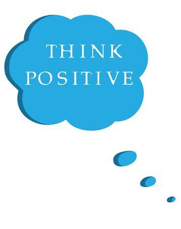 illustration of speech bubble positive thinking Vector Illustration