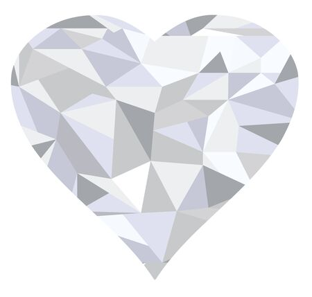 marriage night: Illustration of a diamond geometrical heart