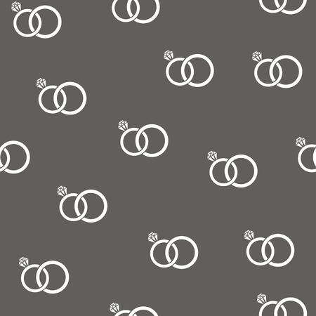illustration of seamless rings background