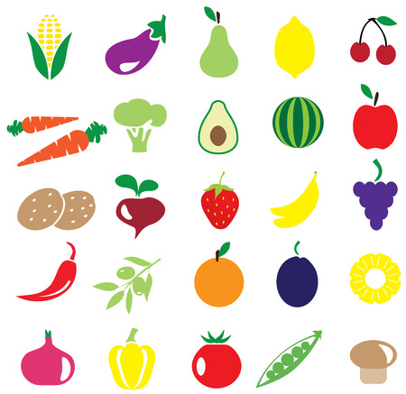 illustration of fruits and vegetables background