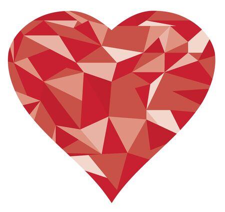 diamond heart: illustration of an abstract geometrical diamond heart Illustration