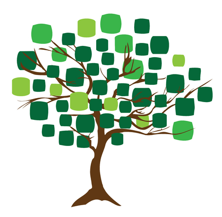 vector illustration of an abstract tree green