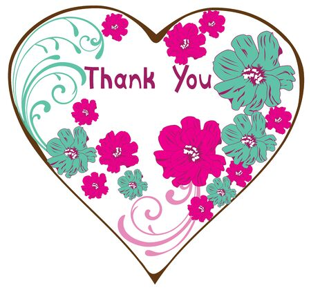 you are special: vector illustration of thank you card with vintage floral card Illustration