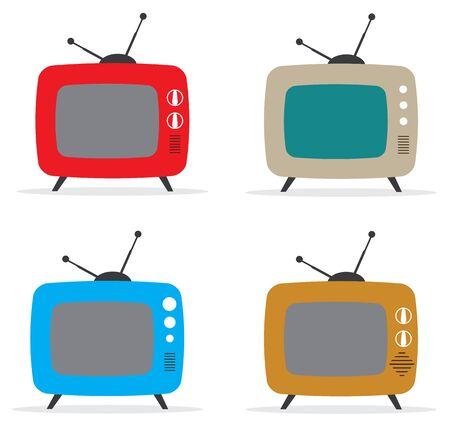retro tv: vector illustration of retro tv set Illustration